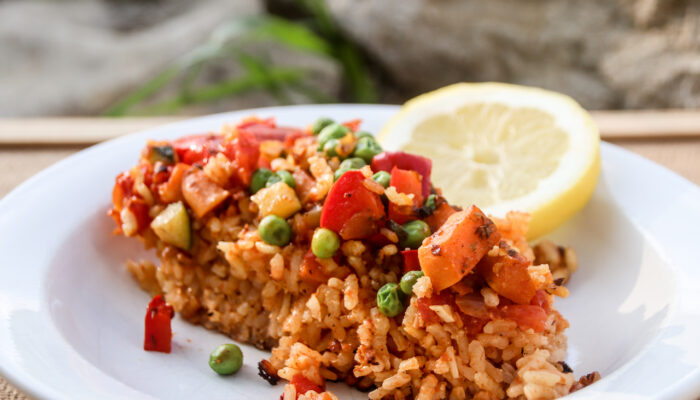 Paella is a typical Spanish dish, which is very simple to veganise