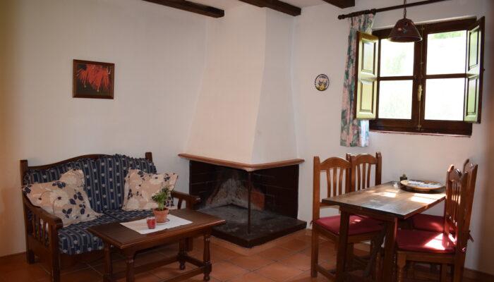 Offener Kamin im Wohn-/Esszimmer des Casa La Solina