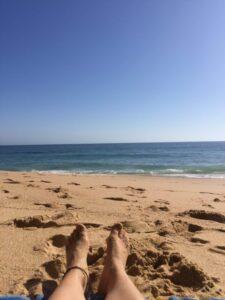 Sol y arena en la costa de la luz