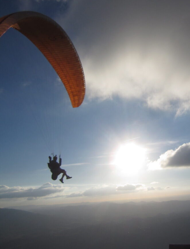 Paragliding in the skies above Algodonales